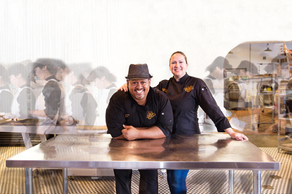 Rosana Rivera and Ricardo Castro, both chefs and owners at Petit Piquant.