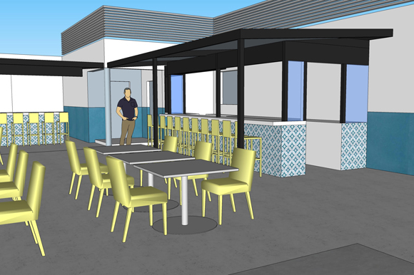 Renderings of the new Bodega going up in Seminole Heights.