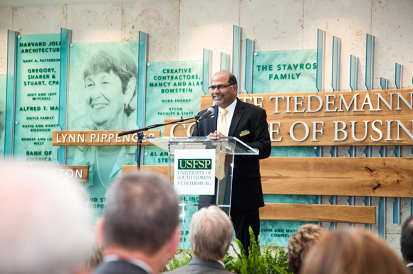 Sridhar (Sri) Sundaram, dean of the Kate Tiedemann College of Business at USFSP.