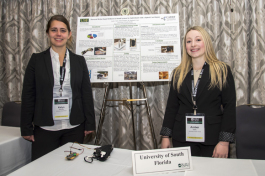 (L-R) Kalyn Kearney and Amber Gatto, student presenters from USF, at the 7th annual National Academy of Inventors.