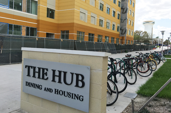 The Hub is at the center of a new village-concept space on the USF Tampa campus.