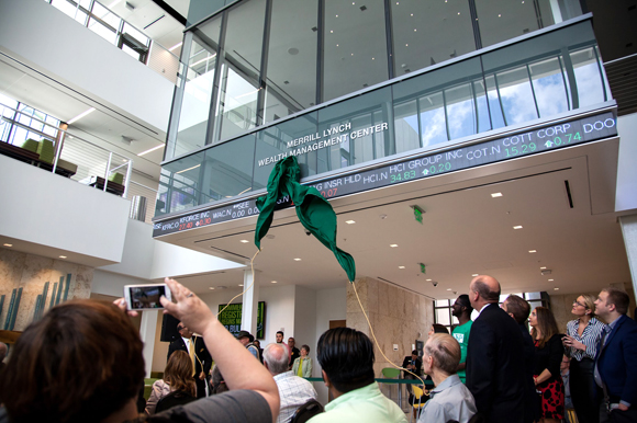 The unveiling of the Merrill Lynch Wealth Management Center at USFSP.