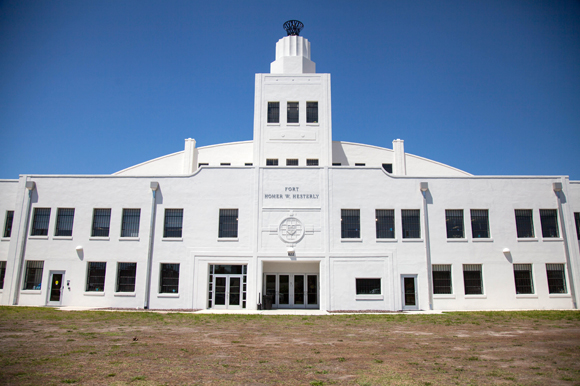 Fort Homer W. Hesterly National Guard Armory, built in 1941, has been renovated into the Bryan Glazer Family JCC in West Tampa.