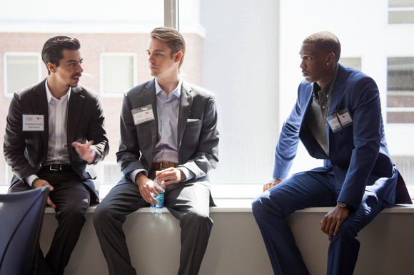 (L-R) Francisco Sastre, Gordon Rector, and Mikhail Miller mingle before the awards ceremony.