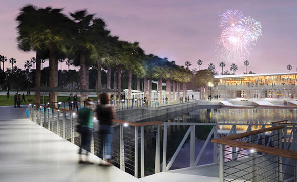 Rendering of Julian B. Lane Riverfront Park.