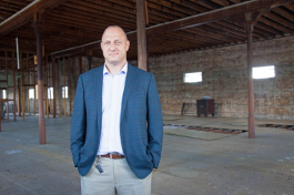 Mike Braccia, co-owner of Main Street Property Holders, at his property in West Tampa.