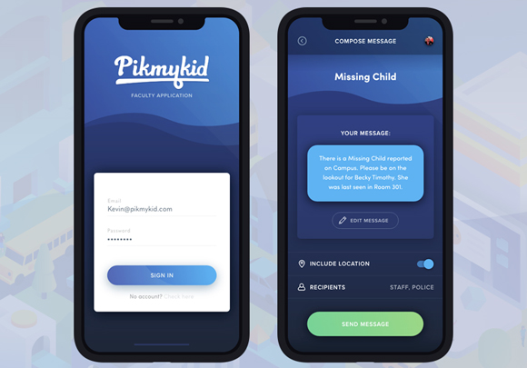 PikMyKid, a school safety app, is gaining in popularity.