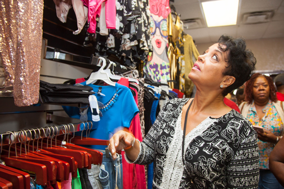 LaDonna Bryant at The Ward's Robe in Tampa during the Black Business Bus Tour.