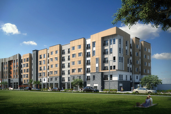Renderings of the Renaissance at West River in West Tampa.