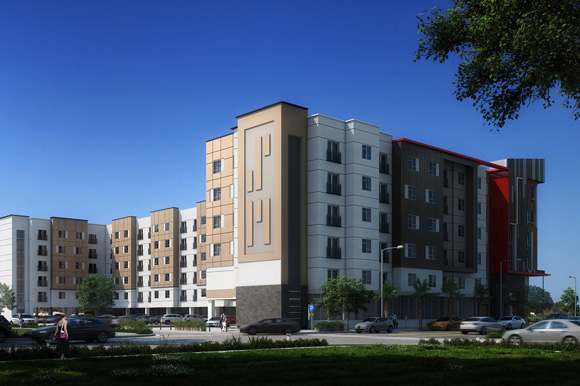 An artist rendering of the Renaissance, a senior living facility at the West River in West Tampa.