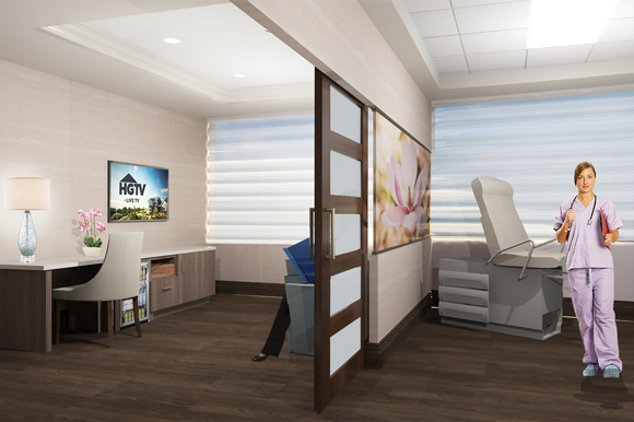The Women's Center will feature patient suites.