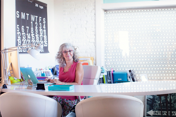Lynn Marvin Dingfelder, executive producer and writer of Creative on Main Street at her office in West Tampa.