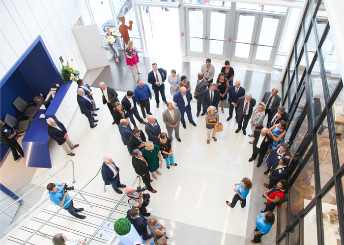 Staff and guests explore the new 225,000 square foot facilities at Johns Hopkins All Children's Hospital.