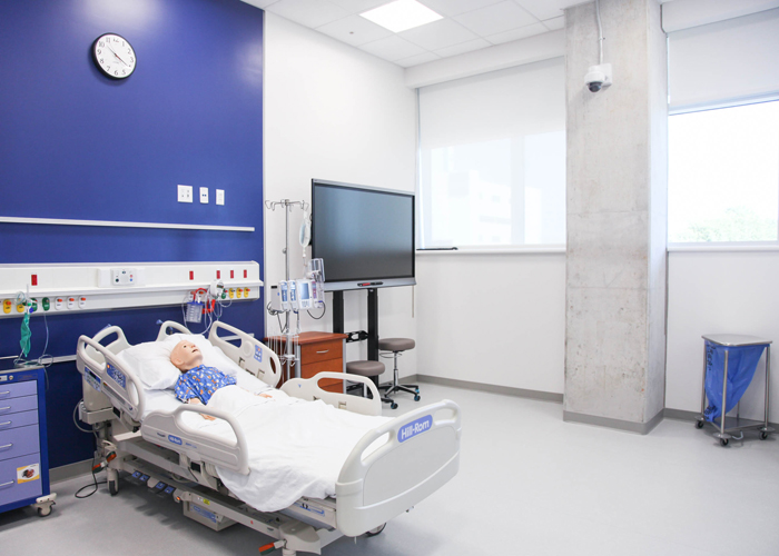 Simulation suites are offered to staff, students, doctor residents, and for families facing at-home care responsibilities.