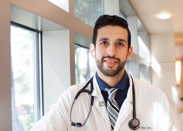 Jesus Diaz Vera, a M.D. candidate at the USF Morsani College of Medicine is set to be a doctor in March of next year.