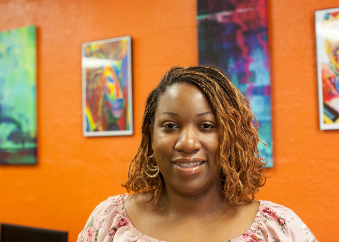 Keara Thompson, Tampa Housing Authority Jobs Plus program manager at Robles Park Village.