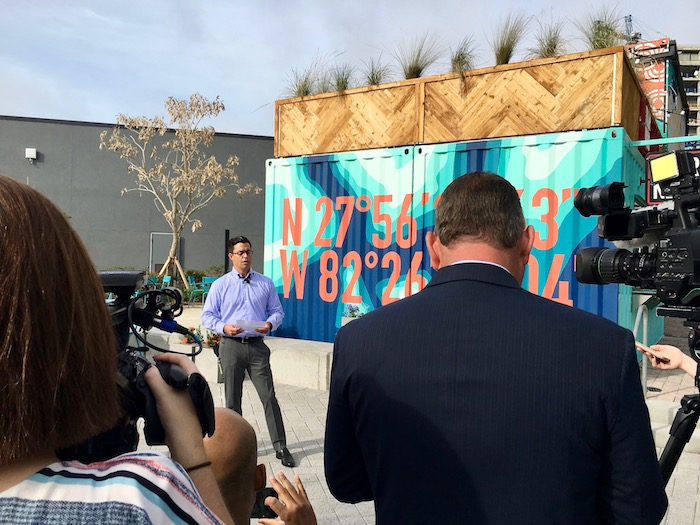 SPP CEO James Nozar introduces Sparkman Wharf as Tampa's newest waterfront destination.