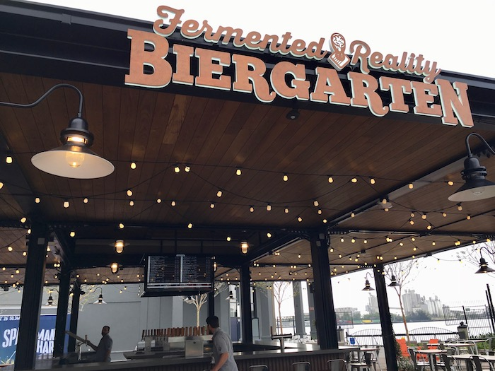Fermented Reality Beirgarten features craft brews at Sparkman Wharf in Water Street Tampa.