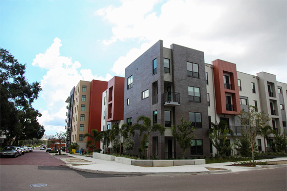 The Pearl apartments near Armature Works in Tampa Heights.