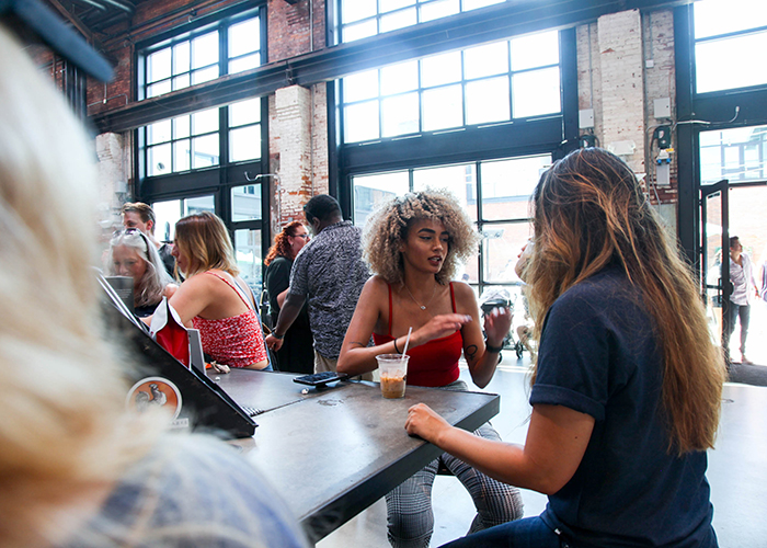 Union, Coffee & Tea By Commune + Co., at Armature Works in Tampa Heights.