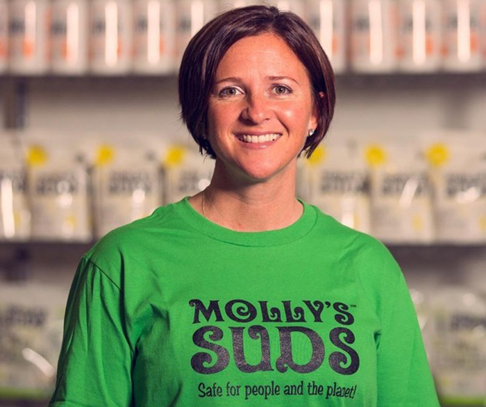 Monica Leonard started her own business, Molly's Suds.