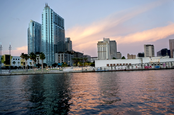 Tampa Riverwalk at Curtis Hixon Waterfront Park.