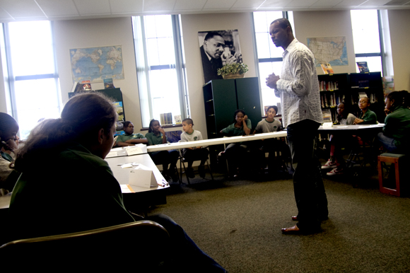 Tim Watson speaks to students at Academy Prep in Tampa. - Julie Busch