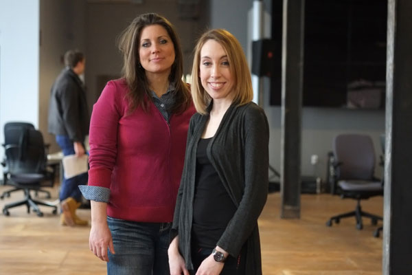 Anne Lopez and Kylie Walker of Romeo Delivers at AlphaLab