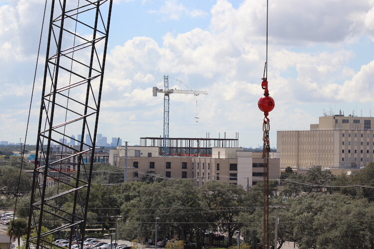 Cranes are becoming an exciting part of the skyline in the Uptown District of North Tampa.