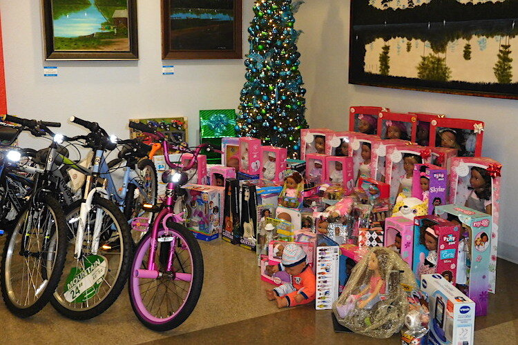 Gifts collected during the Woodson Museum's children's toy holiday drive.