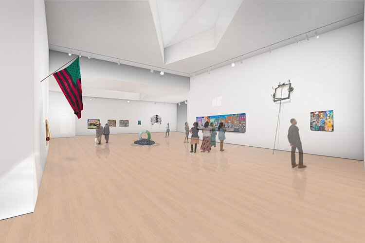 Artist's rendering of future Woodson Museum gallery.