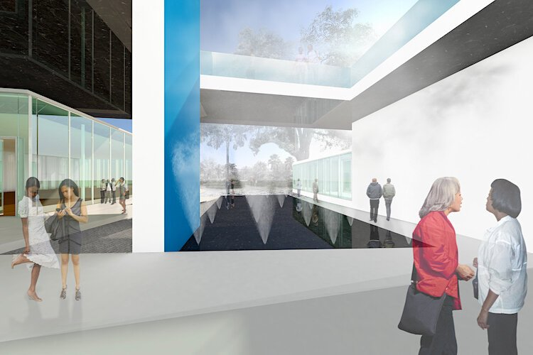 Artist's vision of new Woodson African American Museum.