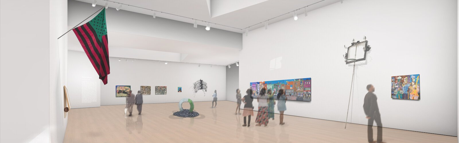Vision for future gallery space at new, modern Dr. Carter G. Woodson African American Museum.