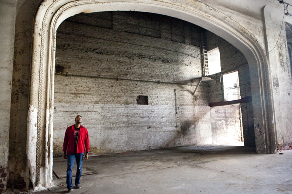 George Carter looks around the old Rialto Theatre after closing escrow. - Julie Branaman