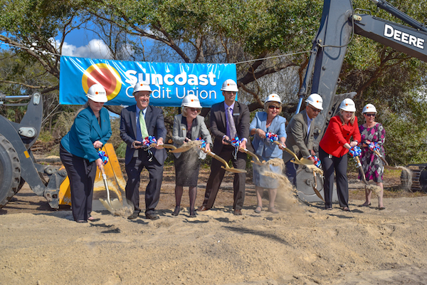 The Suncoast Credit Union breaks ground on new building.