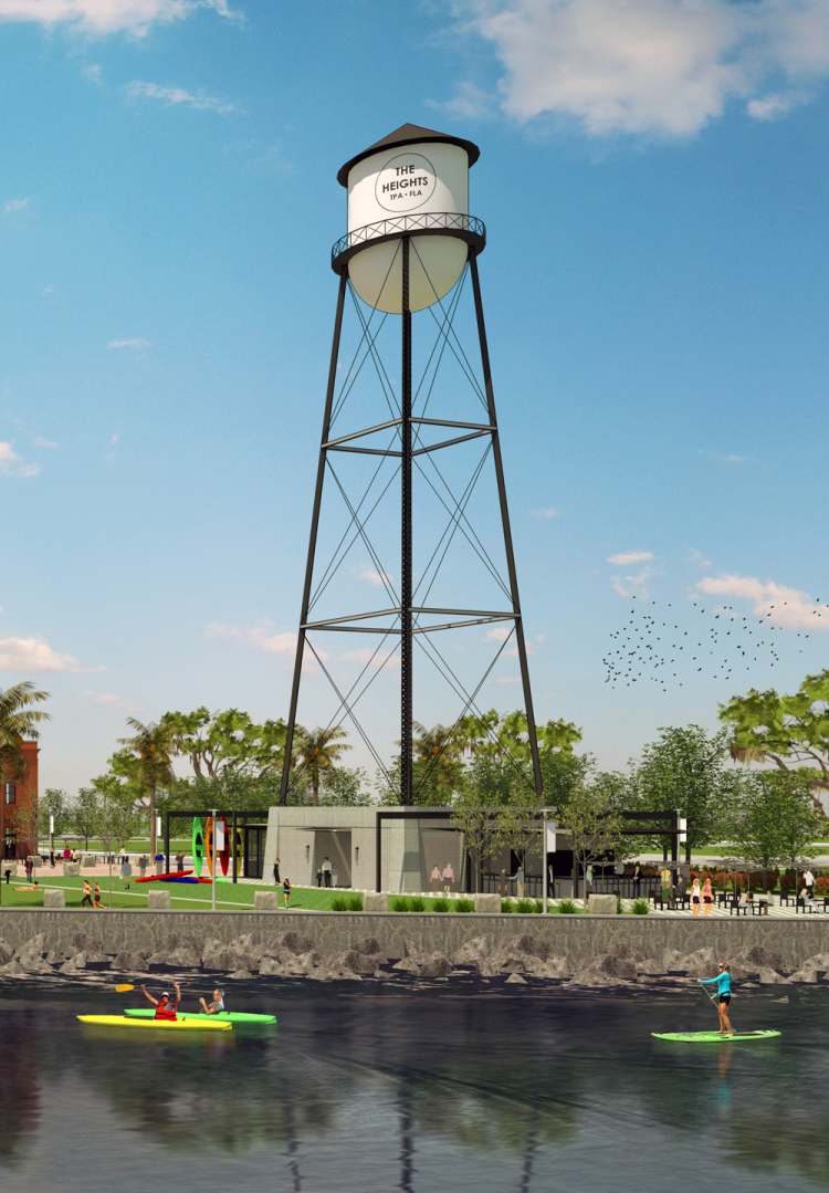 Atlantic Beer & Oyster will be an outdoor eatery located under a water tower along the Tampa Riverwalk in The Heights, which will open in the spring of 2017.