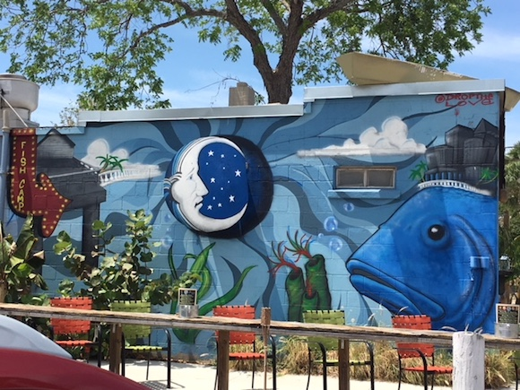 Mural on the side of Big Ray's Fish Camp in South Tampa