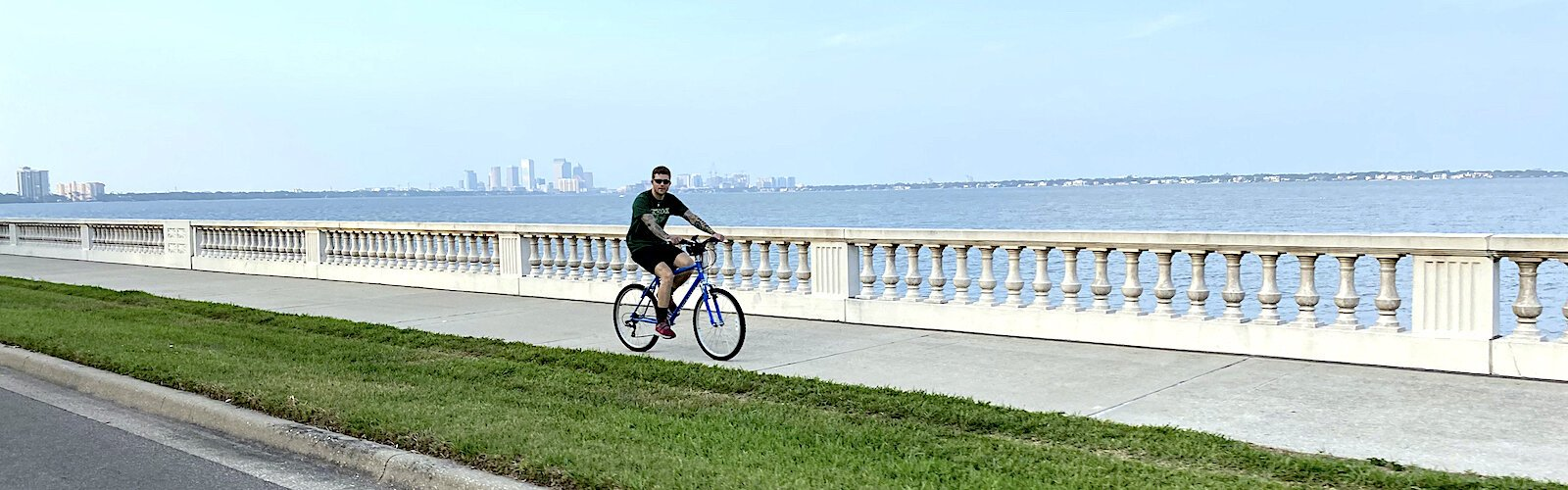 Daily visits along the waterfront in Tampa Bay help keep the coronavirus experience tolerable.