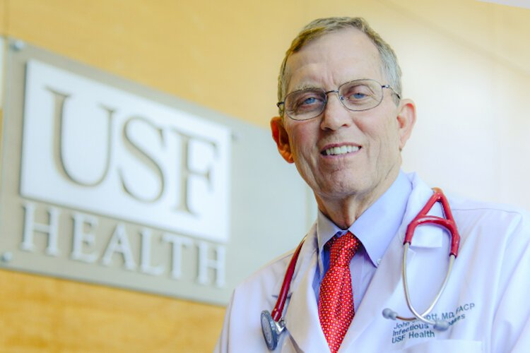 Dr. John Sinnott is Chairman of the Department of Internal Medicine at USF, Morsani College of Medicine and epidemiologist for Tampa General Hospital.