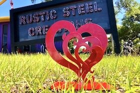 The heart design is iconic to the artisans at Rustic Steel.