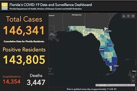 COVID-19 cases in Florida as of June 29, 2020.