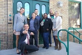 Presenters at a recent 1 Million Cups forum with Greenhouse staff members.