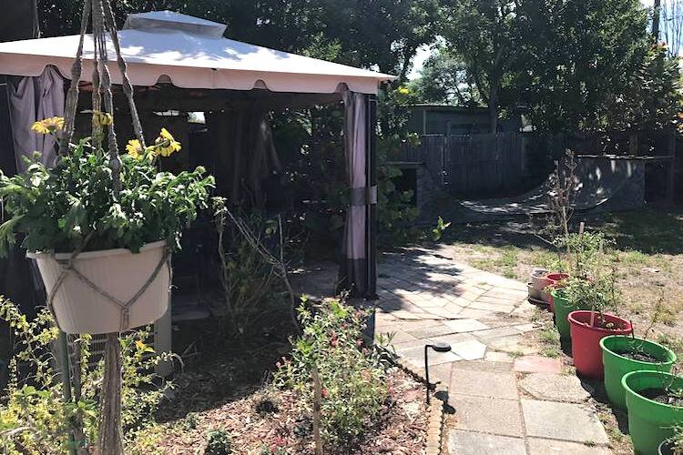 Heather Foster has turned her back yard into a garden.