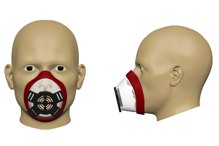 Renderings of the SynDaver respirator.