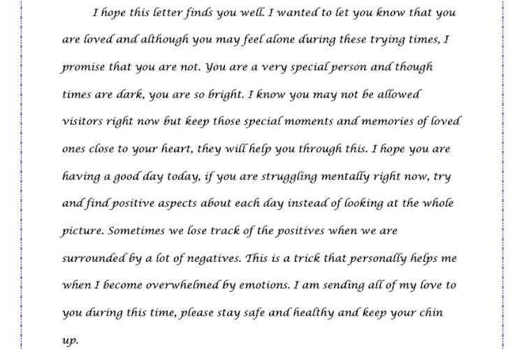 One of Emily Carter's letters to seniors.