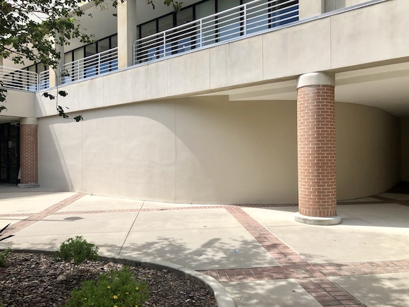 Site of a mural to be painted at HCC Dale Mabry campus.