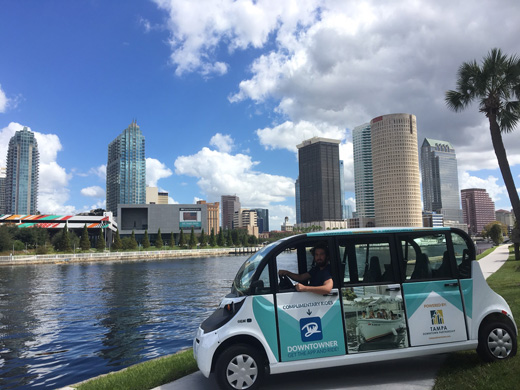 These interesting electric vehicles have been busy shuttling people around the downtown Tampa area over the last six months - all with no emissions.