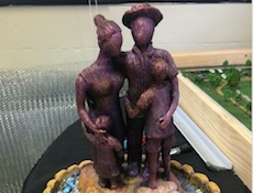 Model for 'Family' sculpture by Junior Polo