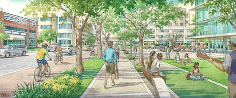 Artist's vision of St. Pete's Innovation District