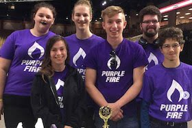 Florida Polytechnic University's Purple Fire Robotics club.